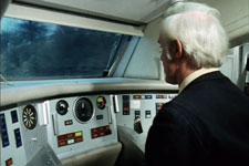 Cab of the Experimental Advanced Passenger Train © BTF